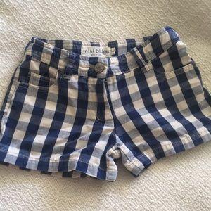 Mini Boden check gingham shorts